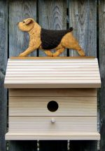 Norfolk Terrier Hand Painted Dog Bird House Black/Tan