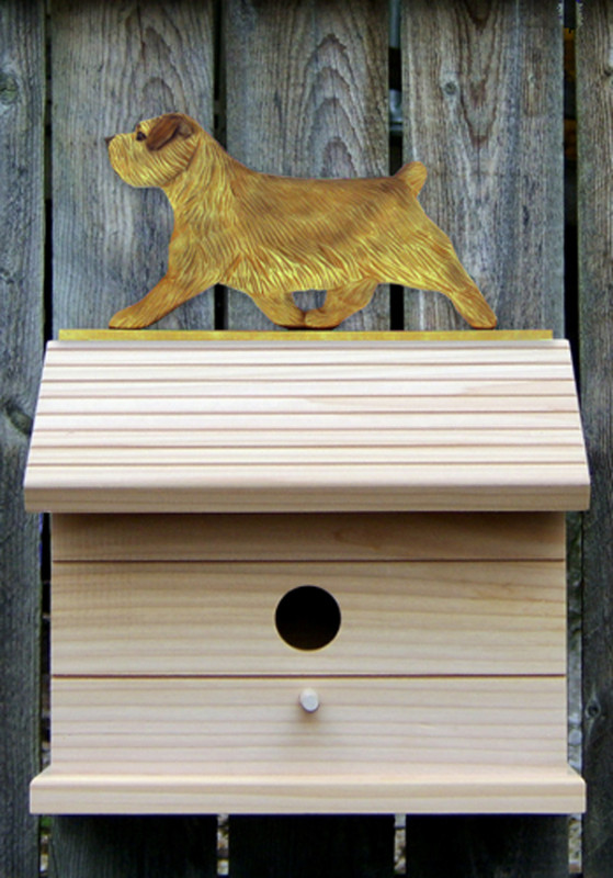 Norfolk Terrier Hand Painted Dog Bird House Grizzle