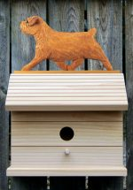 Norfolk Terrier Hand Painted Dog Bird House Red