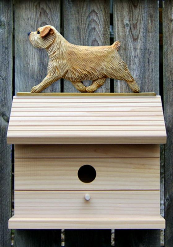 Norfolk Terrier Hand Painted Dog Bird House Wheaten