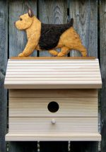 Norwich Terrier Hand Painted Dog Bird House Black/Tan