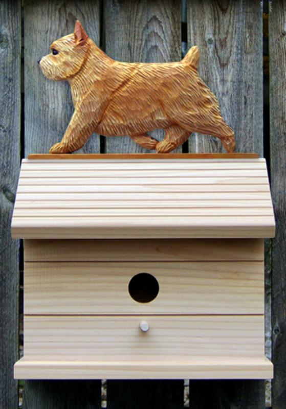Norwich Terrier Hand Painted Dog Bird House Wheaten