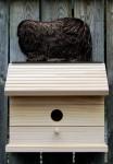 Pekingese Hand Painted Dog Bird House Black