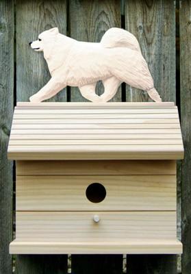 Samoyed Dog Bird House