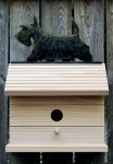 Scottish Terrier Hand Painted Dog Bird House Brindle