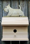 Scottish Terrier Hand Painted Dog Bird House Wheaten