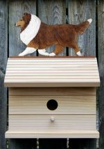 Shetland Sheepdog Hand Painted Dog Bird House Sable