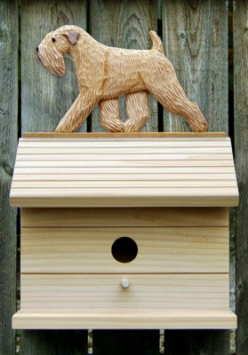 Soft Coated Wheaten Dog Bird House