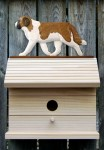 St. Bernard Hand Painted Dog Bird House