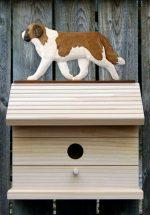 St. Bernard Hand Painted Dog Bird House