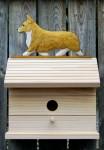 Welsh Corgi Pembroke Hand Painted Dog Bird House Blonde