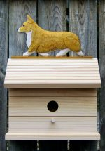 Welsh Corgi Pembroke Hand Painted Dog Bird House Blonde