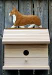 Welsh Corgi Pembroke Hand Painted Dog Bird House Red