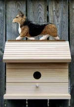 Welsh Corgi Pembroke Hand Painted Dog Bird House Sable