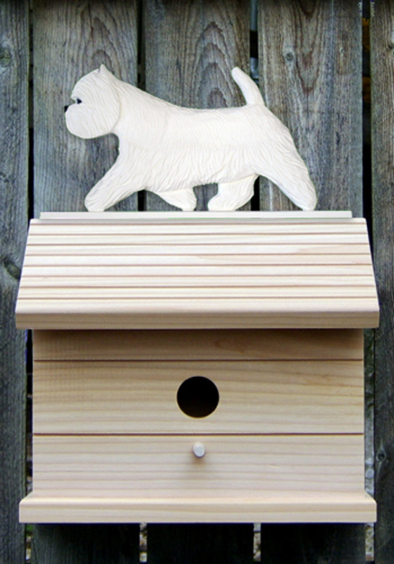 Westie Hand Painted Dog Bird House