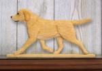 Yellow Labrador Retriever Dog Figurine Sign Plaque Display Wall Decoration