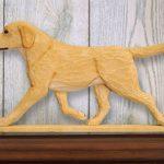 Yellow Labrador Retriever Dog Figurine Sign Plaque Display Wall Decoration 1
