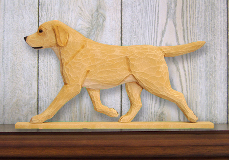 Yellow Labrador Retriever Dog Figurine Sign Plaque Display Wall Decoration