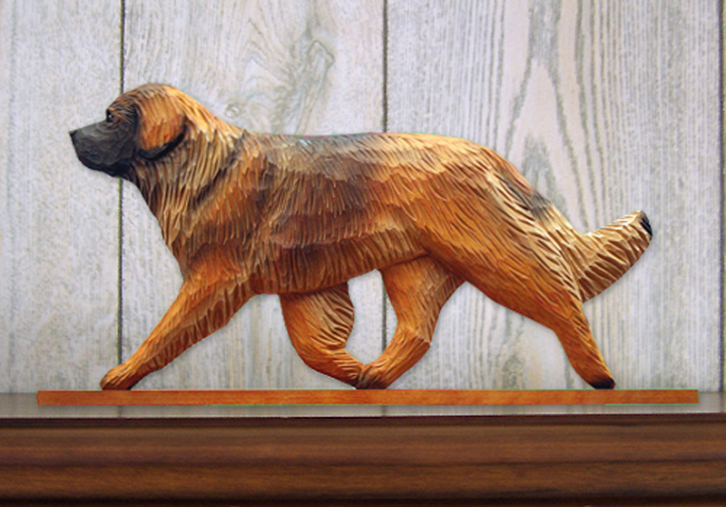 Leonberger Dog Figurine Sign Plaque Display Wall Decoration