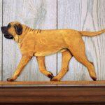 Mastiff Dog Figurine Sign Plaque Display Wall Decoration Apricot 1