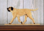 Mastiff Dog Figurine Sign Plaque Display Wall Decoration Fawn