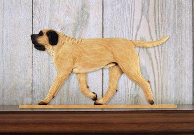 Mastiff Dog Figurine Sign Plaque Display Wall Decoration Fawn 1