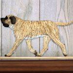 Mastiff Dog Figurine Sign Plaque Display Wall Decoration Fawn Brindle 1