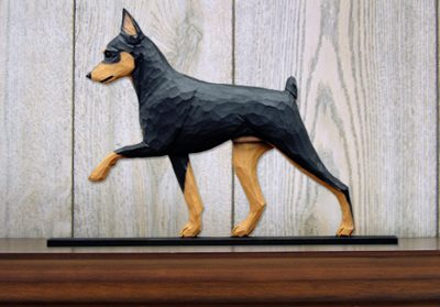 Mini Pinscher Dog Plaque Figurine