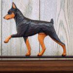 Mini Pinscher Dog Plaque Figurine Chocolate/Tan