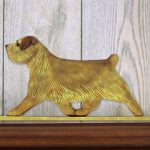 Norfolk Terrier Dog Figurine Sign Plaque Display Wall Decoration Grizzle 1