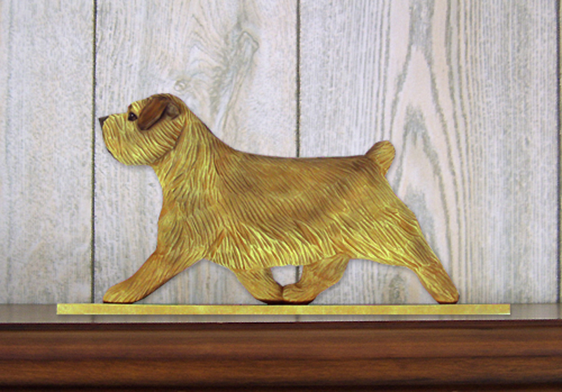Norfolk Terrier Dog Figurine Sign Plaque Display Wall Decoration Grizzle