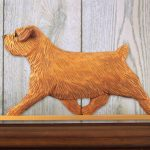 Norfolk Terrier Dog Figurine Sign Plaque Display Wall Decoration Red 1