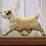 Norfolk Terrier Dog Figurine Sign Plaque Display Wall Decoration Wheaten 1