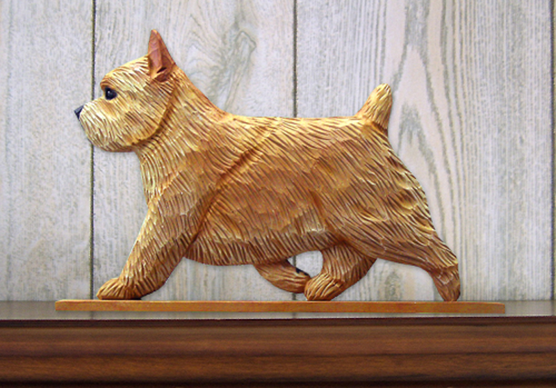 Norwich Terrier Dog Figurine Sign Plaque Display Wall Decoration Wheaten