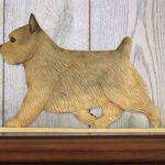 Norwich Terrier Dog Figurine Sign Plaque Display Wall Decoration Grizzle 1
