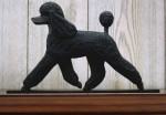 Poodle Dog Figurine Sign Plaque Display Wall Decoration Black