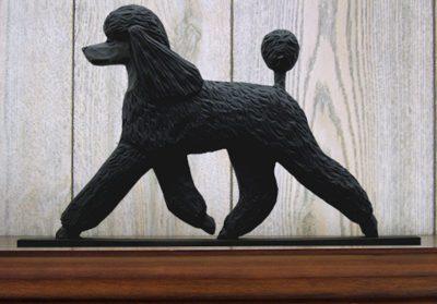 Poodle Dog Figurine Sign Plaque Display Wall Decoration Black 1