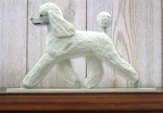 Poodle Dog Figurine Sign Plaque Display Wall Decoration White