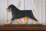 Rottweiler Dog Figurine Sign Plaque Display Wall Decoration