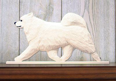 Samoyed Dog Figurine Sign Plaque Display Wall Decoration