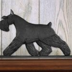 Schnauzer Miniature Dog Figurine Sign Plaque Display Wall Decoration Black 1