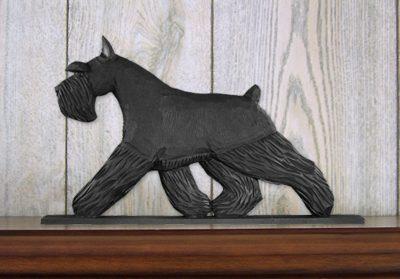 Schnauzer Miniature Dog Figurine Sign Plaque Display Wall Decoration Black