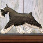 Schnauzer Miniature Dog Figurine Sign Plaque Display Wall Decoration Black/Silver 1