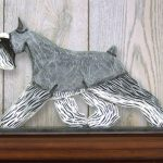 Schnauzer Miniature Dog Figurine Sign Plaque Display Wall Decoration Salt/Pepper 1