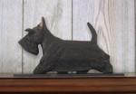 Scottish Terrier Dog Figurine Sign Plaque Display Wall Decoration Black