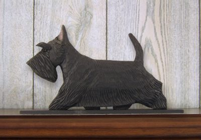 Scottish Terrier Dog Figurine Sign Plaque Display Wall Decoration Black