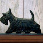 Scottish Terrier Dog Figurine Sign Plaque Display Wall Decoration Brindle 1
