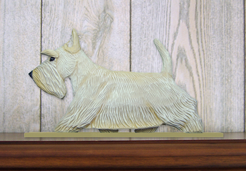 Scottish Terrier Dog Figurine Sign Plaque Display Wall Decoration Wheaten