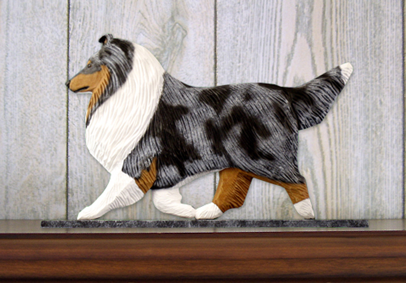 Sheltie Dog Figurine Sign Plaque Display Wall Decoration