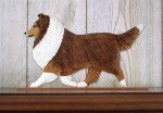 Sheltie Dog Figurine Sign Plaque Display Wall Decoration Sable